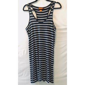 Joe Fresh Navy Striped Tank Dress